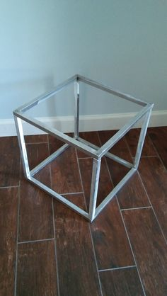 Metal Cube Table End Table / Side table / box by MetalloDesign