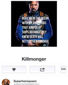 7 個讚,1 則留言 - Instagram 上的 Superheroqueen(@superheroqueenrb):「 Killmonger art piece avalible on 53 products #killmonger #blackpanther #redbubble #marvel 」