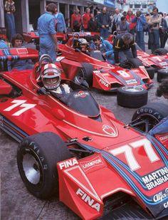 Nurburgring 1976 - Rolf Stommelen,Carlos Pace,Gordon Murray , Giorgio Piola - Brabham BT 45 #F1