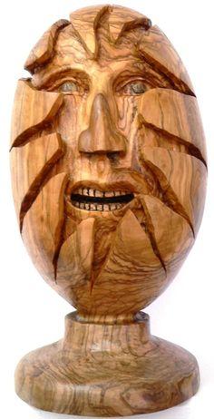 Hatching, Olive wood sculpture. $1,100.00, via Etsy.