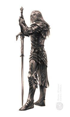 Dragonrider knight, Marina Kleyman on ArtStation at https://www.artstation.com/artwork/lDkgo