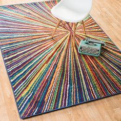 Skye Monet Prism Rug (3'9 x 5'2) - Overstock™ Shopping - Great Deals on Alexander Home 3x5 - 4x6 Rugs