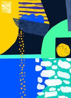 """tomabbisssmithart: """"'Blue Brass Beats' Tom Abbiss Smith Art."""