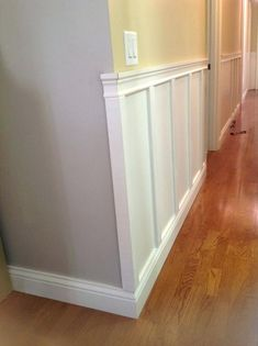 3 Thriving Cool Tips: Painted Wainscoting Fixer Upper wainscoting door master bedrooms.Types Of Wainscoting House wainscoting design baseboards. Wainscoting Kitchen, Painted Wainscoting, Dining Room Wainscoting, Wainscoting Ideas, Wainscoting Nursery, Wainscoting Height, Painted Stairs, Paneling Ideas, Wainscoting Panels