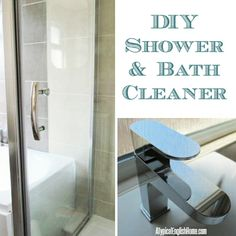 diy shower cleaner or bath cleaner made with natural household