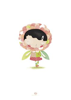tini_dalia flower little girl, dahlia