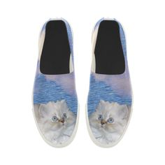 Cat and Water Apus Slip-on Microfiber Women's Shoes. FREE Shipping. FREE Returns. #shoes #cats