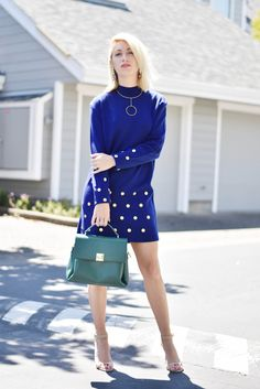 vintage shopping tips: pick your decade, vintage 80s any calico corner sweater dress