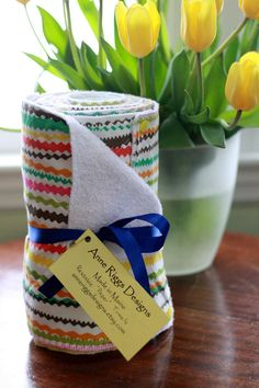 """I think this is cool. Reusable """"paper"""" towels.  A set of 12 towels snapped together in a roll.  Now you don't have to feel so guilty."""