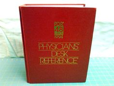 Red PDR Physicians Desk Reference Red Book Pharmacy Medications HC 1994 #RharmaceuticalReferencebook