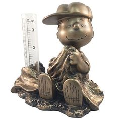 Homestyles #51533 Lucy Rain Gauge Bronze Patina Figurines From The Snoopy  Peanuts Garden Statue Collection @ Niftywarehouse.com #NiftyWarehouse #Peu2026