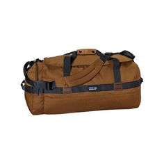 Patagonia Arbor Duffel 60L - Bear Brown (140 NZD) ❤ liked on Polyvore featuring bags, luggage and brown
