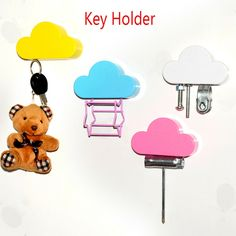 Strong-Willed 2 Pcs/lot Plastic Novelty Home Mini Cute Creative Anti-lost Hook Within The Bag Key Storage Holder Rack Random Color Luggage & Bags