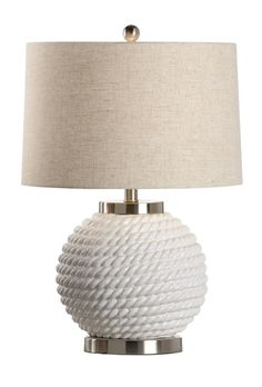 46980 Marina Ceramic Lamp Ice White by Wildwood Lamps * Add Style with Designer Table Lamps from FineHomeLamps.com * Free Shipping, No Tax * Visit Today!