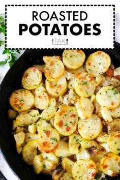 Lyonniase Potatoes are sliced Russet Potatoes that have been coated in butter and garlic and roasted in the oven with onions to crispy perfection. They are perfect for weeknight dinners and a great side dish for entertaining and feeding a crowd! Tofu Dishes, Potato Dishes, Russet Potatoes, Sliced Potatoes, Russet Potato Recipes, Barbecue Side Dishes, Thing 1, Peeling Potatoes