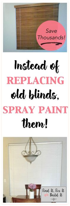 How to spray paint window blinds. Tutorial on how to spray paint blinds. Yes, you can spray paint pretty much anything!