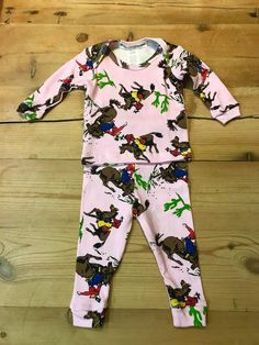 Thingamajiggies Cowboy Long Sleeve PJ Set (Pink) Buckaroos at Cry Baby Ranch Baby Dress Clothes, Baby Dresses, Homecoming Outfits, Long Sleeve Pyjamas, Keep Shopping, Pj Sets, Cry Baby, Pajama Set, Ranch