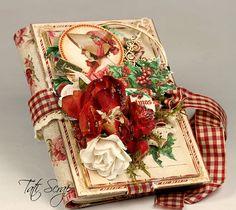 Christmas mini album with the new Christmas Carol Graphic 45 collection Christmas Mini Albums, Christmas Scrapbook, Christmas Minis, Christmas Carol, Handmade Christmas, Graphic 45, Christmas Paper Crafts, Christmas Projects, Mini Scrapbook Albums