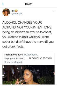 alcoholism is so normalized today??? like getting drunk every night in red wine to forget about the responsibilities of having kids is a thing now