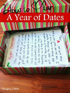 Managing A Home: How to Plan your Year of Dates Present