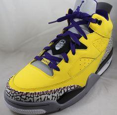 NIKE AIR JORDAN Son of Low Mens Shoes 580603-708 Sz 10.5 Yellow Grape Grey Mars #Nike #BasketballShoes