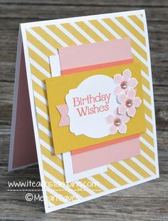 DIY Card Making: Making a Birthday Card Using Stampin' Up! Supplies - See more at: http://www.iteachstamping.com/birthday-stampin-supplies/#sthash.kMVdwY7p.dpuf