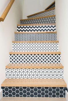 escalier pochoir