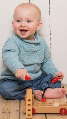 Fin strikket drengenbluse   strikket drengebluse med boblemønster