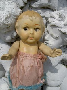 Another ~ 1920s jointed composition CUPIE (Kewpie) carnival doll, googly eyes