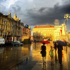 Walking in the rain in #Croatia #Europe | Photo by @socialnomads