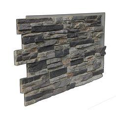 The Superior Grand Heritage Stack stone panel is made from high density polyurethane. These panels perfectly recreate the look of natural stone. Each panel covers approximately 7 sq. These faux stone Stone Siding Panels, Faux Stone Siding, Faux Stone Walls, Stone Accent Walls, Faux Brick, Brick And Stone, Veneer Panels, Stone Veneer Exterior, Stacked Stone Panels