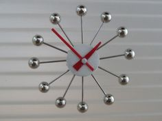BALL CLOCK - mid century atomic clock for dollhouse, 1:12 scale