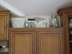 ANTIQUECHASE Decorating Above Kitchen Cabinets Why Is It So Hard