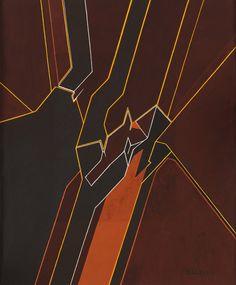 Pablo Palazuelo; 'Y III', Guache on Paper, 1973-5.