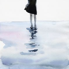all around the sea Art Print by Agnes-cecile Framed Art Prints, Canvas Prints, Agnes Cecile, Grunge, Indie, Watercolor Sketch, Watercolor Pencils, Watercolours, Watercolor Paper