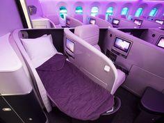 Virgin Atlantic Boeing 787-9 Dreamliner First Class Cabin