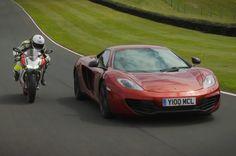 McLaren 12C vs Ducati 1199 Panigale S - ultimate supercar vs superbike s...