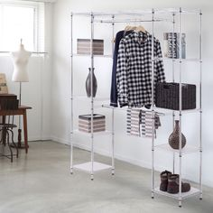 Costway Laundry Rack Adjustable Folding Airer Clothes Dryer Indoor