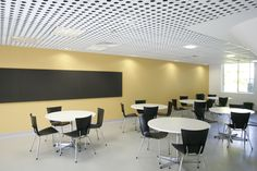 Drop in ceiling tiles made from perforated panels substrate fibre cement.