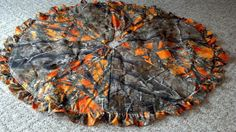 "Orange or Pink Camo Christmas tree Skirt by passingtime304 on Etsy, $45.00 This would be fun for when we have our second ""fun"" tree!"