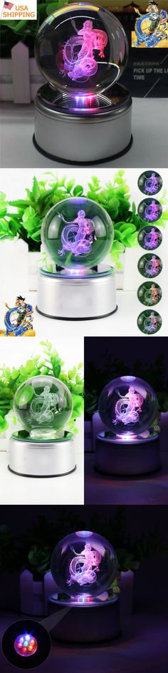 DragonBall Z 7117: Dragon Ball Z Son Goku 3D Crystal Ball Led Night Light Table Lamp Birthday Gift -> BUY IT NOW ONLY: $39.98 on eBay!
