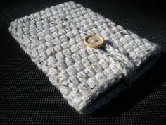 Kindle Fire eReader Cover Case in Natural Aran Fleck Beige 100% Acrylic Crochet - Ready-to-ship. $24.99, via Etsy.