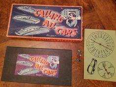 Vintage 1930s Calling All Cars Board Game by 3LittleWitches on Etsy