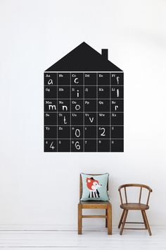 "FERM LIVING WALLSTICKER ""ABC HOUSE"" - Interiør"