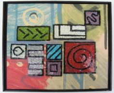 """""""In the Streams of Consciousness"""" --glass mosaic on fabric"""