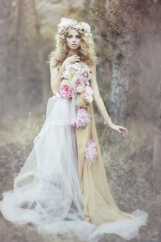 """The Wild Rose Fairy"" photo shoot featuring Allie Evans at LA Models."