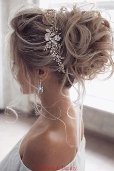 36 Hottest Bridesmaids Hairstyles Ideas ❤️ hottest bridesmaids hairstyles id. 36 Hottest Bridesmaids Hairstyles Ideas ❤️ hottest bridesmaids hairstyles ideas elegant curly high updo with glamorous accessorie tonyastylist Source Wedding Hair And Makeup, Hair Makeup, Wedding Hair Updo, Wedding Hair Styles, High Updo Wedding, Bridal Hair Updo High, Hair Messy Updo, Wedding Hair To Side, Bridal Hair Mid Length