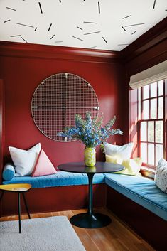Blue and Red Playroom