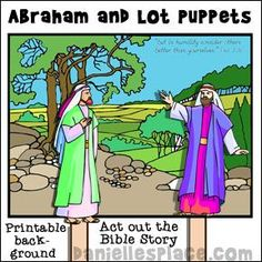 Abraham and Lot Bible Crafts Abraham Bible Crafts, Bible Story Crafts, Bible School Crafts, Bible Stories For Kids, Bible Crafts For Kids, Abraham Bible Story, Family Crafts, Sunday School Kids, Sunday School Lessons