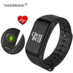 tasa Tiandirenhe F1 corazón pulsera Smart Monitor Banda Muñequera pasómetro rastreador de ejercicios Android SmartBand la presión arterial